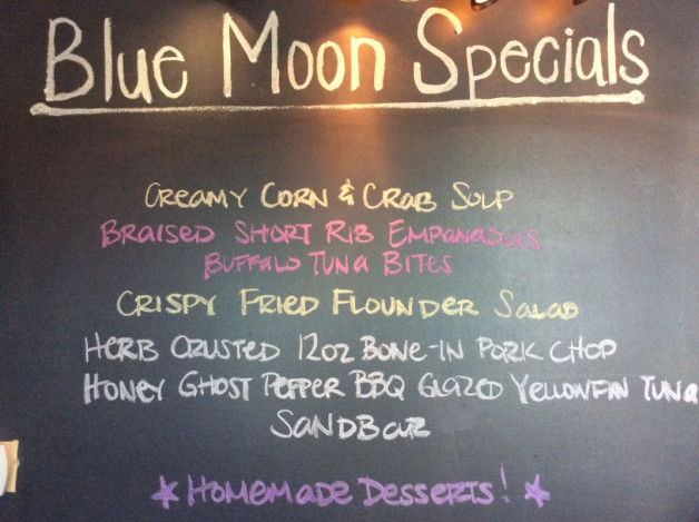 Friday Dinner Specials – April 27th 2018