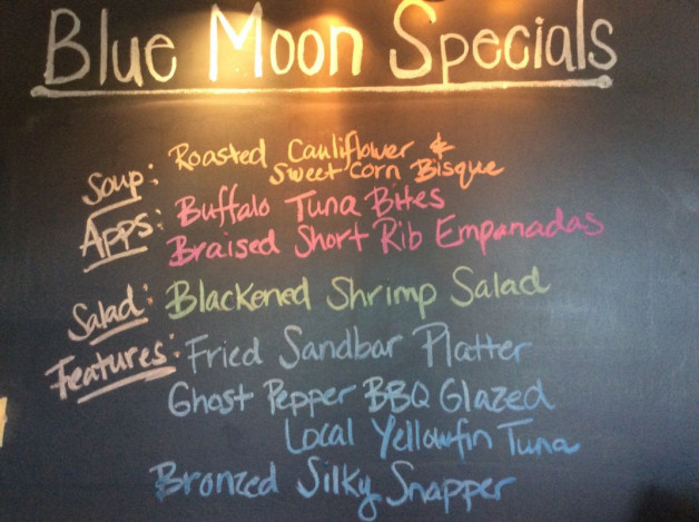 Wednesday Dinner Specials—May 2nd, 2018