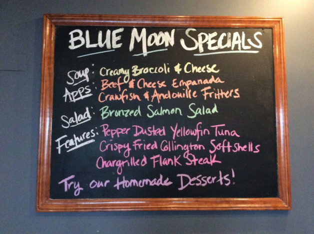 Tuesday Dinner Specials—-May 8th, 2018