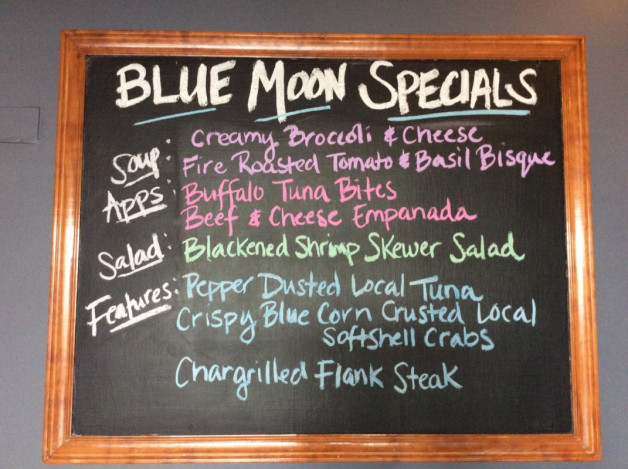 Wednesday Dinner Specials—May 9th, 2018