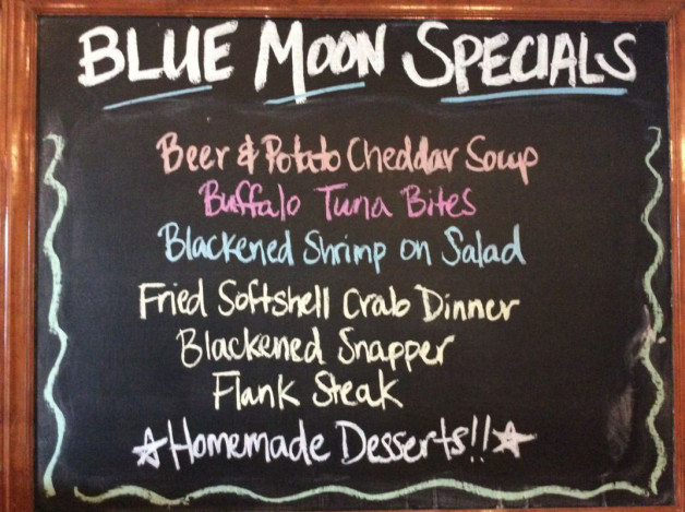 Tuesday Dinner Specials—May 15th, 2018