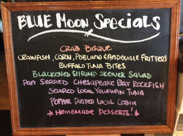 Saturday Dinner Specials – May 26th, 2018